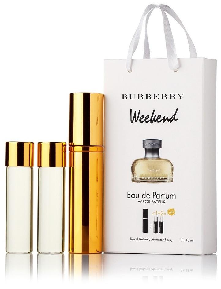 Туалетная вода женская Burberry Weekend for Women edt 3X15 ml, Подарочная упаковка!