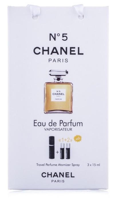 Туалетная вода женская Coco Chanel Chanel №5 edt 3X15 ml, Подарочная упаковка!