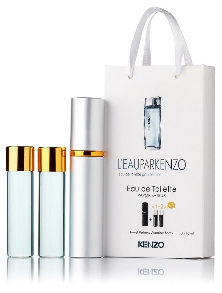 Подарочный набор L'eau Par Kenzo pour Femme edt 3X15 ml, женская туалетная вода!