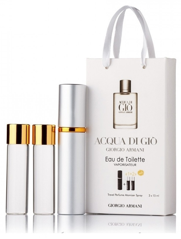 Подарочный набор Giorgio Armani Acqua di Gio Pour Homme edt 3X15 ml, мужская туалетная вода!