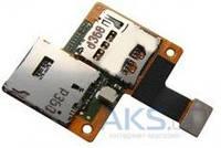 Шлейф для HTC Desire 601 с коннектором SIM-карты и карты памяти Original