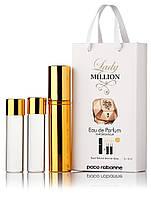 Туалетная вода женская Paco Rabanne Lady Million edt 3X15 ml, Подарочная упаковка!