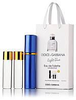 Подарочный набор Dolce & Gabbana Light Blue edt 3X15 ml, мужская туалетная вода!