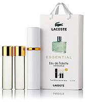 Подарочный набор Lacoste Essential  edt 3X15 ml, мужская туалетная вода!