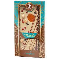 Шоколад белый Shoud'e Melody Симфония (курага, фундук, кедр.орех, красный перец, имбирь, 100г)