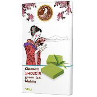 Шоколад белый Shoud'e Matcha (зелёный чай, 90г)