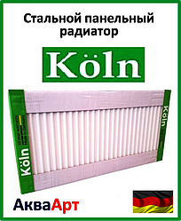Стальной радиатор Köln 22k 500*1500 боковое подключение
