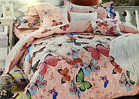 Постельное белье САТИН, 100% хлопок, двухцветное, 200×230 евро, фото 1