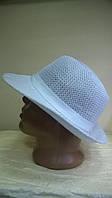 Летняя шляпа для мужчин  из текстильной нити  цвет белый