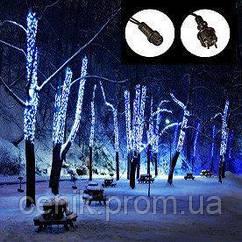 Уличная гирлянда нить 100 LED 10 метров WIMPEX Синяя, черный провод