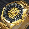 Мужские механические часы Winner Skeleton Gold (M_G_080419_42-1) - Фото