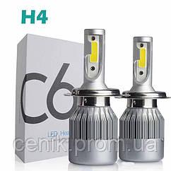 Набор автомобильных светодиодных LED ламп TOP LED PRO С6 H4, холодный свет