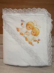 Крыжма детская для крещения 100х90 см
