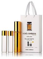Подарочный набор Dolce & Gabbana The One edt 3X15 ml, мужская туалетная вода!