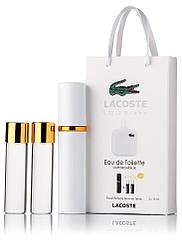 Подарочный набор Lacoste Eau De Lacoste L.12.12 edt 3X15 ml, мужская туалетная вода!