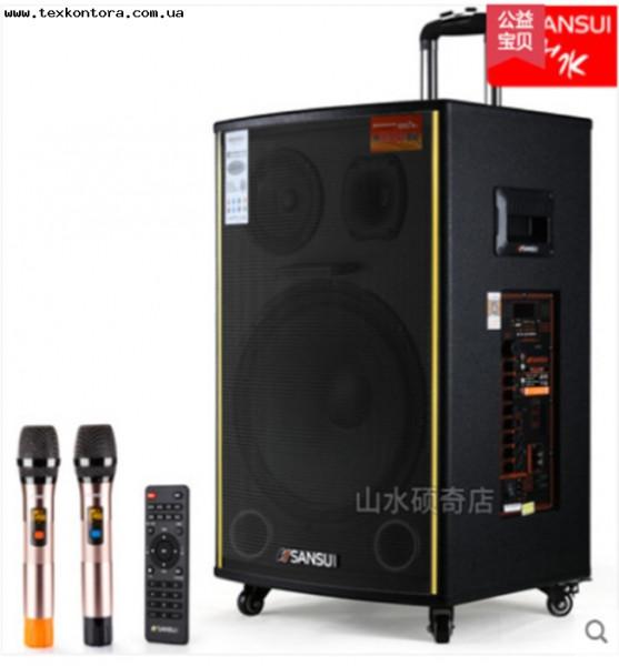 Колонка с микрофонами SA1-15W аккумуляторная акустика