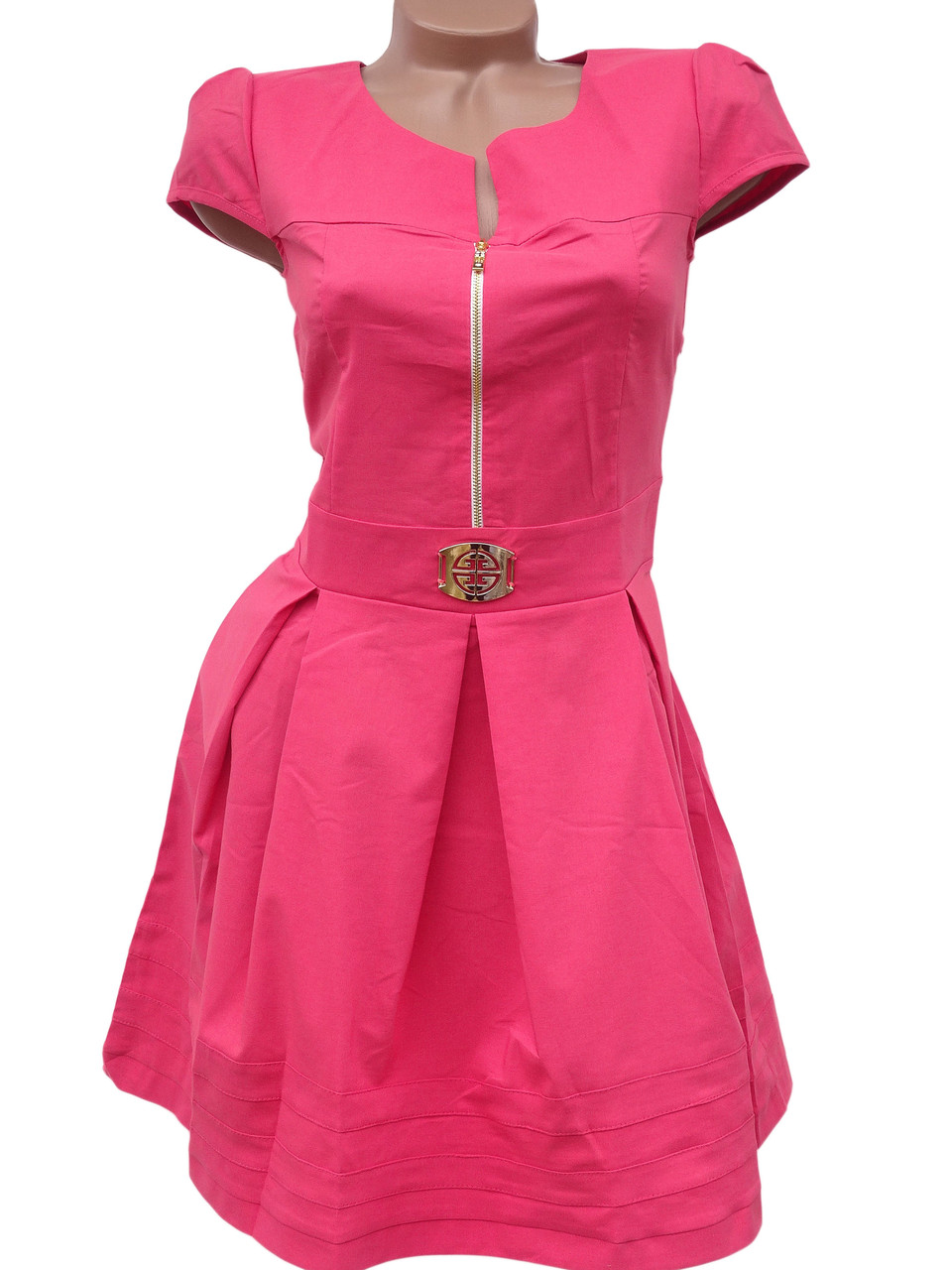 Яркие летние платья из стрейч-коттона (в расцветках 42-46)