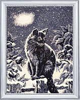 Набір вишивки бісером Луний кіт