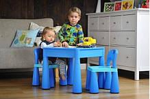 Детский стол, столик лего доска lego, два стула в комплекте Tega, фото 2