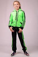 Спортивный костюм детский Комби-лампас (салатовый)