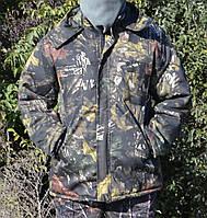 Куртка зимова довга Дубок з капюшоном хутро + синтепон р. 48-58, фото 1