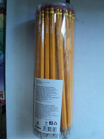 Карандаши простые с резинкой (48 шт.)