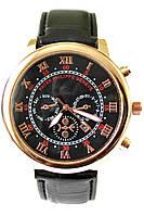 Мужские кварцевые наручные часы Patek Philippe Sky Moon на кожаном ремешке, фото 1