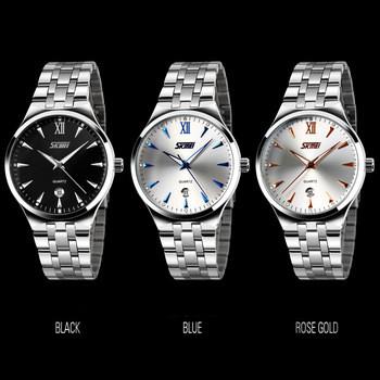 Мужские  стальные кварцевые часы   с календарем, наручные часы, relogio, reloj 9071