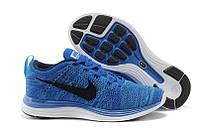 Кроссовки мужские Nike Air Max Flyknit Lunar, кроссовки найк флайнит лунар синие, обувь оригинальная
