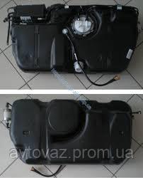 Бак паливний, бензобак ВАЗ 1117, ВАЗ 1118, ВАЗ 1119 Калина, ВАЗ 2190 Гранту інжекторний пластик б.у