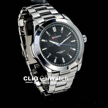 Классический бренд мужских  стальных кварцевых наручных часов relogio , 0078