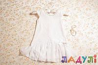 Нарядное белое детское платье, на 2-4 года