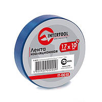✅ Лента изоляционная ПВХ (Изолента пвх) 10 м x 17 мм x 0,15 мм синяя INTERTOOL IT-0010