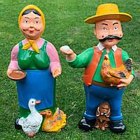"""Комплект садовых фигуры """"Дед и баба"""" H-95, фото 1"""
