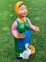 "Садова фігура ""Баба з качками"" H-91см, фото 1"