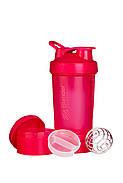 Шейкер спортивный BlenderBottle ProStak 650ml с 2-мя контейнерами Pink FL (ORIGINAL), фото 2