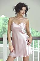 Красивый нежно розовый эффектный пеньюар атлас, ночная сорочка - бэби долл, неглиже. Хит!