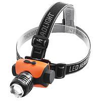 Фонарь на лоб Police 12V 6835-XPE, zoom, защита, налобный фонарь