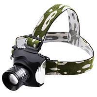 Фонарь на лоб Police 12V 6631-XPE, zoom, налобный фонарь