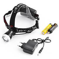 Фонарь налобный 0180-CREE T6, аккумулятор 18650, налобный фонарь