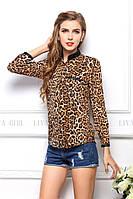 Блузка женская / рубашка леопардовая, фото 1