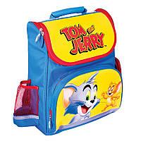 Ортопедический каркасный ранец желто-голубой Tom and Jerry, модель 600, фото 1