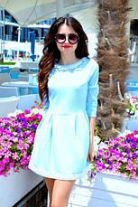 Платье жаккард с кружевом , фото 2