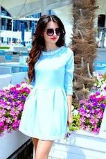 Платье жаккард с кружевом , фото 3