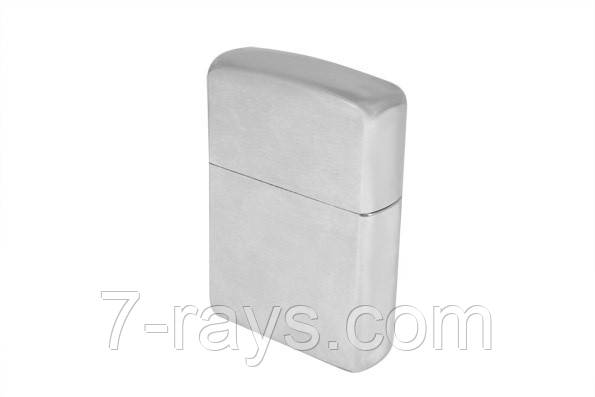 "Зажигалка бензиновая ""Zippo № 162 brushed chrome Heavy Wall Armor Case"" серая"