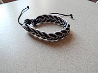 Модный кожаный браслет плетенка