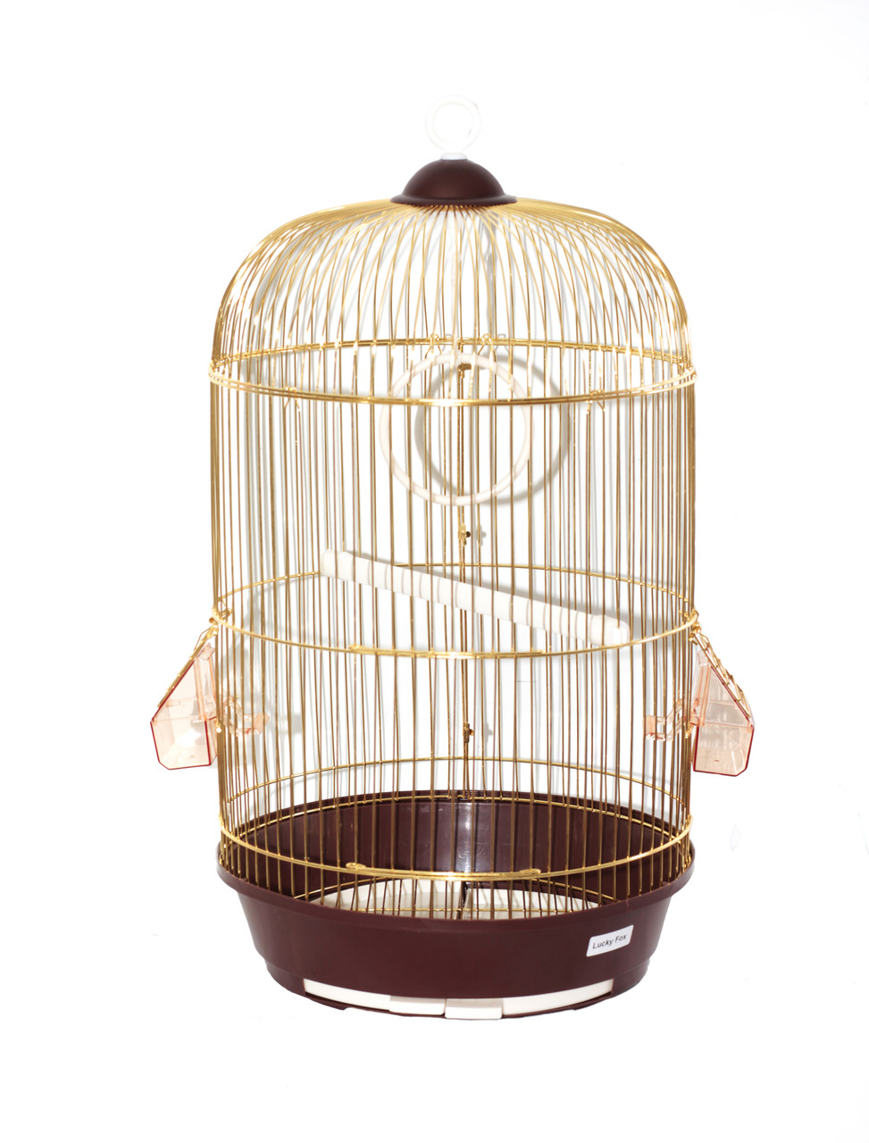 Клетка для птиц круглая Fox Diana, золотая