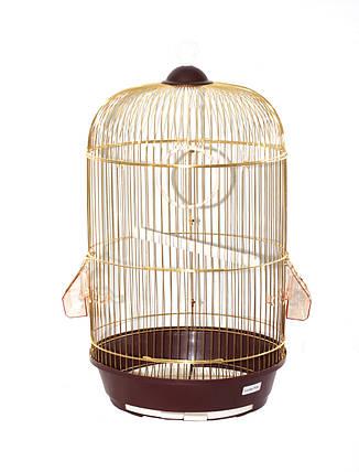 Клетка для птиц круглая Fox Diana, золотая, фото 2