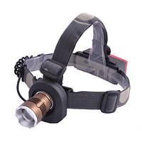 Ручной фонарь налобный Police 12V 6812-XPE, zoom- 2 в 1