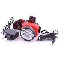 Фонарь на лоб аккумуляторный Police 12V 508-7c, налобный фонарик